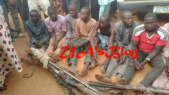 Fulani Herdsmen Allegedly Caught On Their Way To 'Attack' A Community In Edo (Photos)