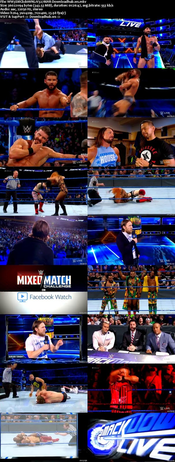 WWE Smackdown Live 27 March 2018   Download