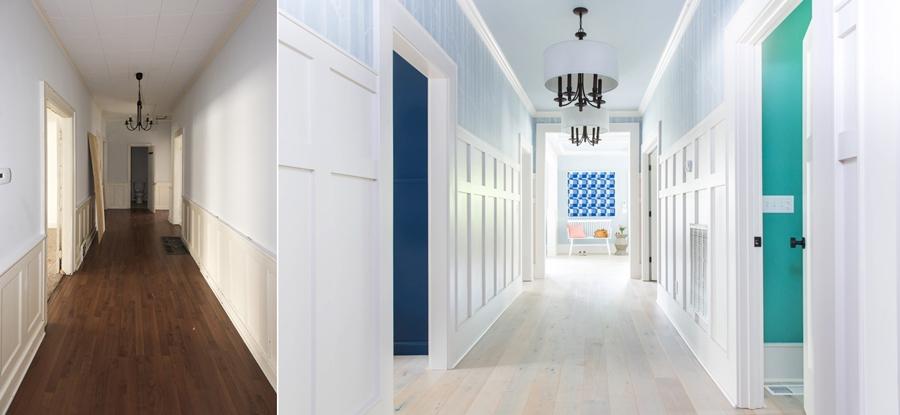 Niebieskie szaleństwo - metamorfoza całego domu, wystrój wnętrz, wnętrza, urządzanie mieszkania, dom, home decor, dekoracje, aranżacje, niebieski, blue, before and after, przedpokój