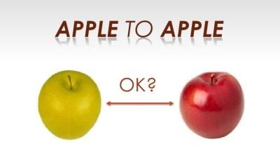 Perbandingan Aneh yang Tidak Apple to Apple