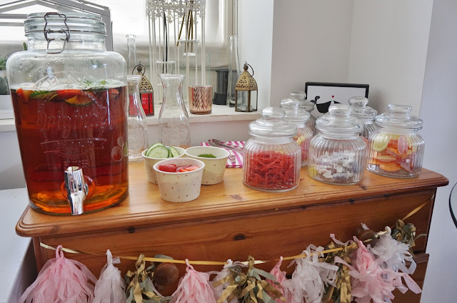 Pimms and pick and mix sweets