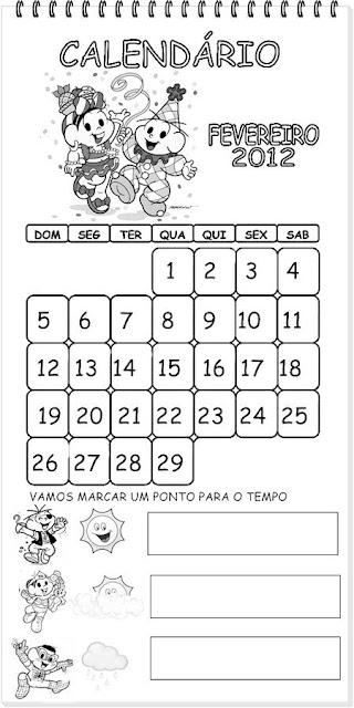 Calendário 2012 - Turma da Mônica