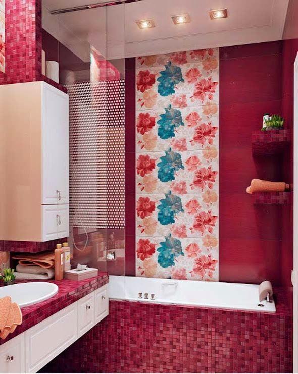 Motif kamar mandi minimalis yang cantik