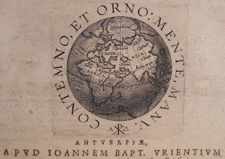 Title page showing globe
