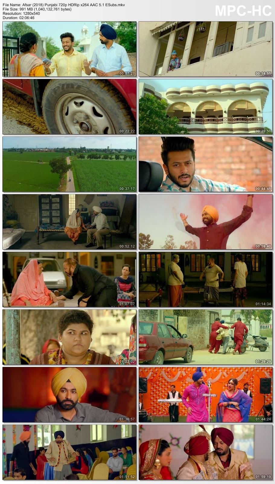 Afsar (2018) Punjabi 720p HDRip x264 AAC 5.1 ESubs – 990MB Desirehub