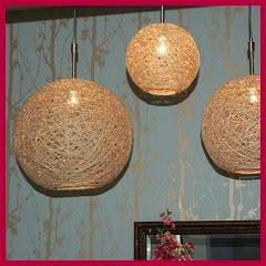 Lámparas rústicas de yute