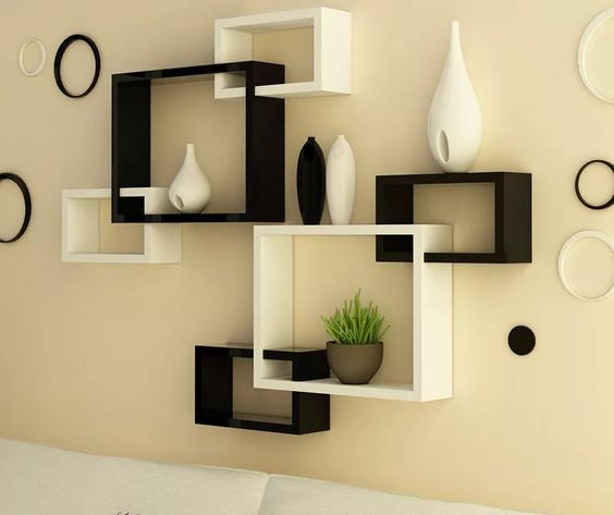 . Top 50 wooden wall shelves designs for modern living room interior 2019