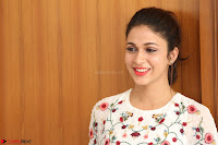 Lavanya Tripathi in Summer Style Spicy Short White Dress at her Interview  Exclusive 216.JPG