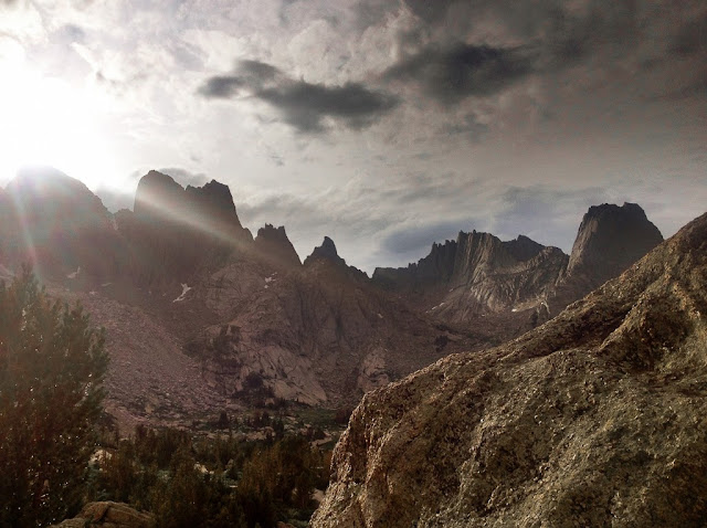 The Cirque of the Towers in the Wind River Range of Wyoming at sunset