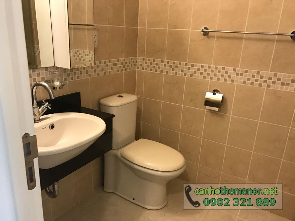 Cho thuê căn hộ 1PN full nội thất tầng 6 - The Manor 2 - phòng vệ sinh