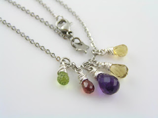 Gemstone Necklace, Gift Idea