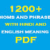 1200+ Idioms and Phrases with Hindi and English Meaning PDF Download