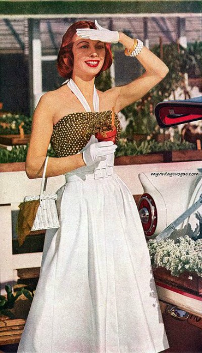 Celanese Halter Dress Woman's Day 1957