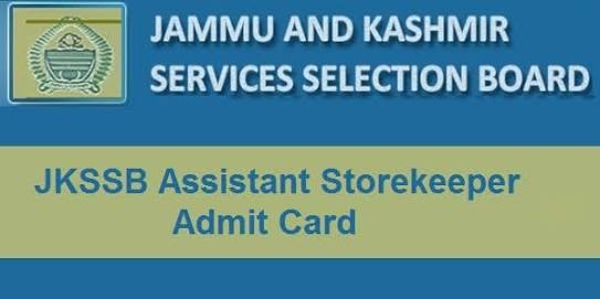Downloading of Admit cards for the exam for the post of Assistant     Storekeeper cum Clerk,