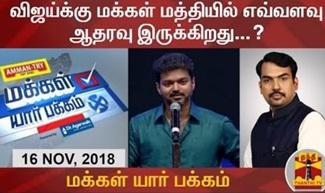 Makkal Yaar Pakkam 16-11-2018 Do people support Actor Vijay in Politics?