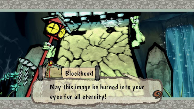 Ōkami Okami Nintendo Switch Blockhead Grande defeated cracked image be burned into your eyes