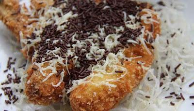 Resep Membuat Pisang Goreng Kremes Saus Coklat Keju