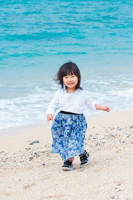 沖縄 家族写真 バースデーフォト 海