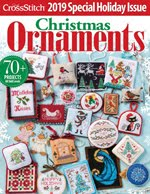 FIND BLUE RIBBON DESIGNS IN THE JUST CROSSSTITCH 2019 ANNUAL CHRISTMAS ORNAMENT ISSUE