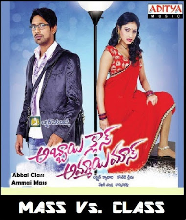 Poster Of Abbai Class Ammayi Mass In Dual Audio Hindi Telugu 300MB Compressed Small Size Pc Movie Free Download Only At worldfree4u.com