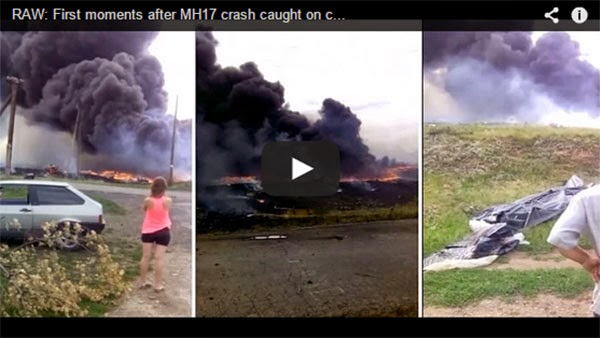 New Video: First Moments After MH17 Crash