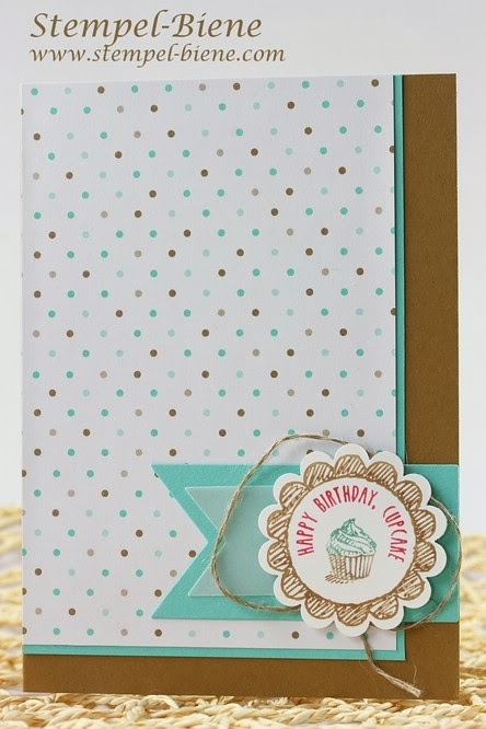 Designerpapier Frisch & Farbenfroh, Stampin Up Sketched Birthday, Match the Sketch, Geburtstagskarte basteln, Stampin Up Workshop, Stempel-Biene, Scrapbooking, Stampin up Stempelparty