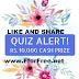 Answer 3 questions to win Rs10,000