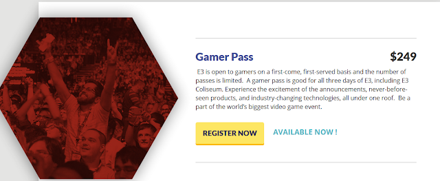 E3 2018 Electronic Entertainment Expo Gamer Pass price $249 features limited time sale