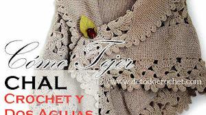 Cómo Tejer Chal en Dos Agujas y Crochet