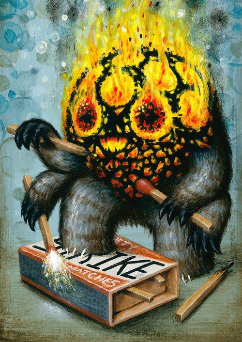 Jason Limon arte pinturas surreais macabras bizarras sombrio terror