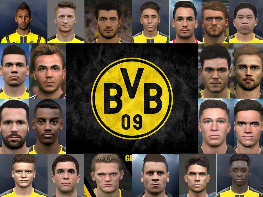 PES 2017 Dortmund Mega Facepack Repack By Ali.Mnf