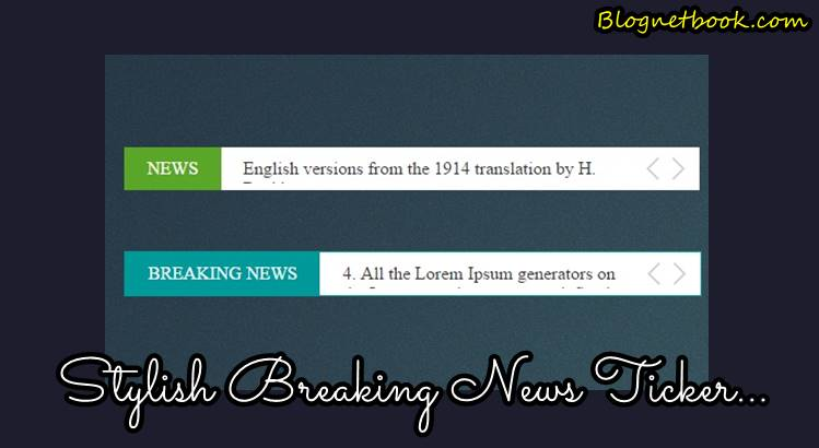 Stylish breaknews tricker for blog website