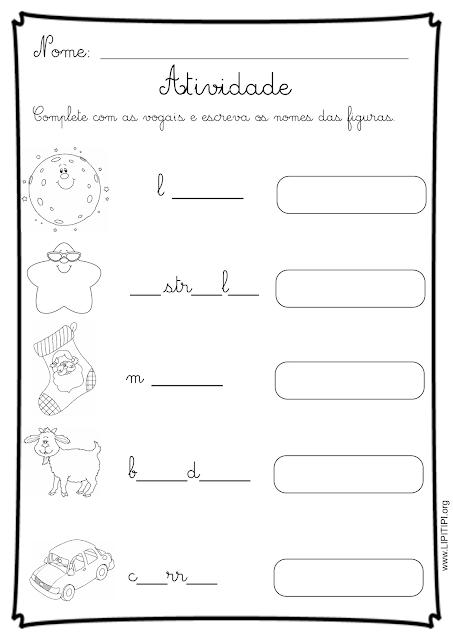 atividade letra cursiva alfabetização inicial