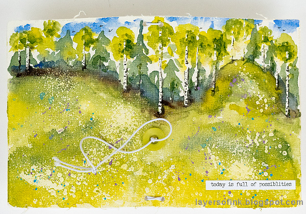 Layers of ink - Watercolor Meadow Notebook Tutorial by Anna-Karin Evaldsson.