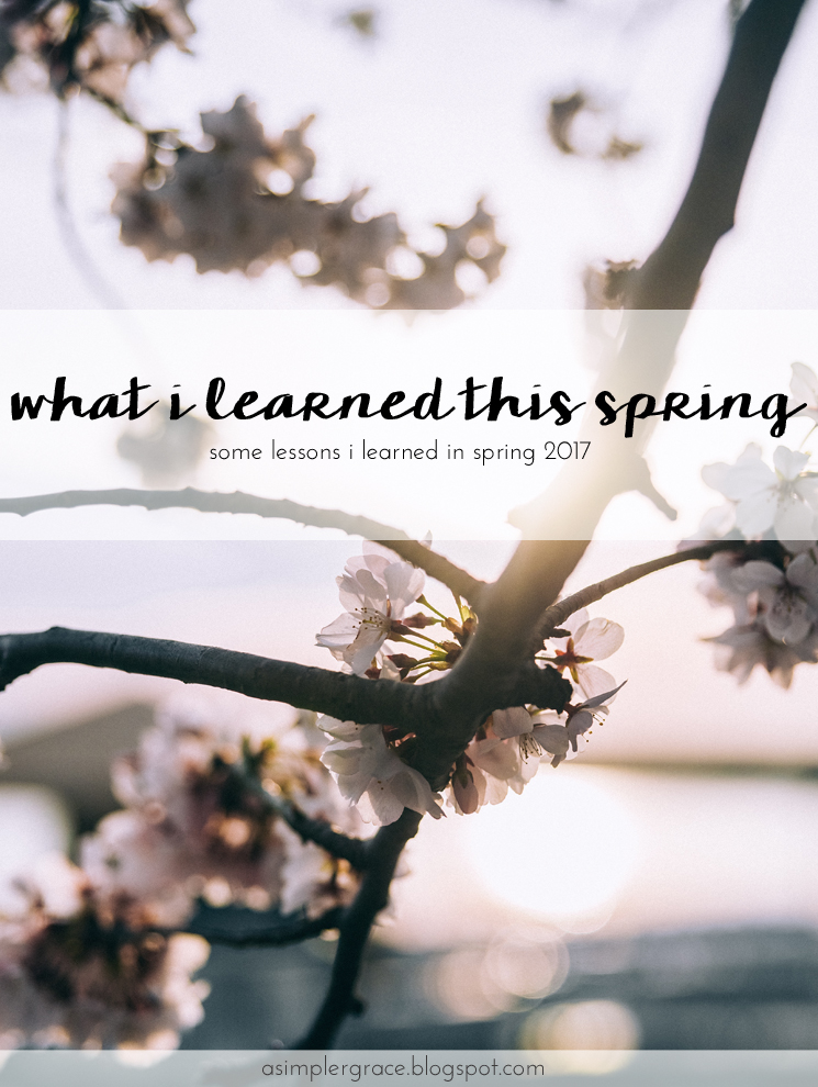 Sharing lessons learned in spring 2017 with Emily Freeman. What I Learned | Spring 2017 - A Simpler Grace