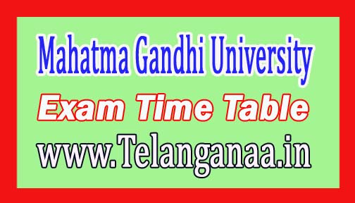 MGU Degree 1st Year 1st Sem Exam Time Table 2016