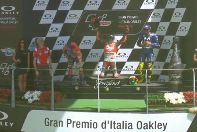 Doppietta Ducati al Mugello con Lorenzo e Dovizioso, Valentino Rossi sul podio | Motori MotoGP