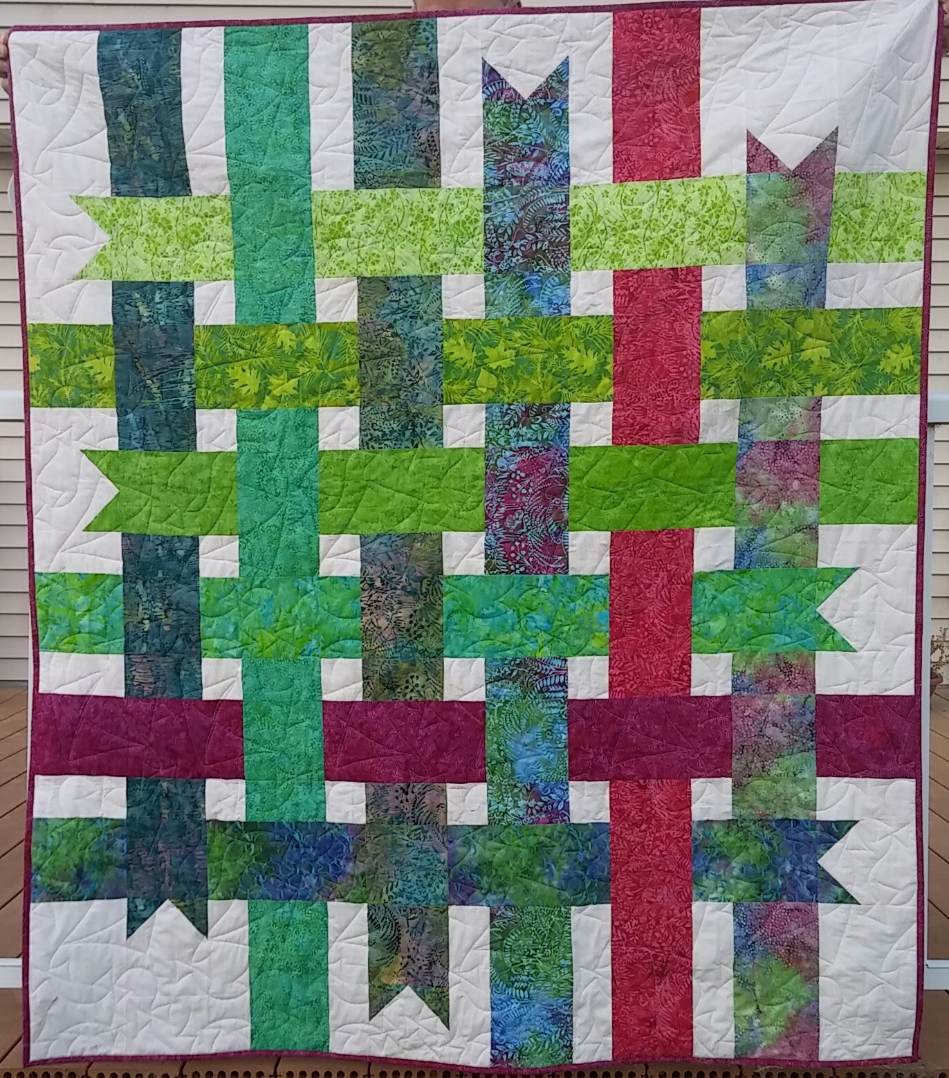 Patchwork Breeze: Some More Quilts From Island Batik Fabrics