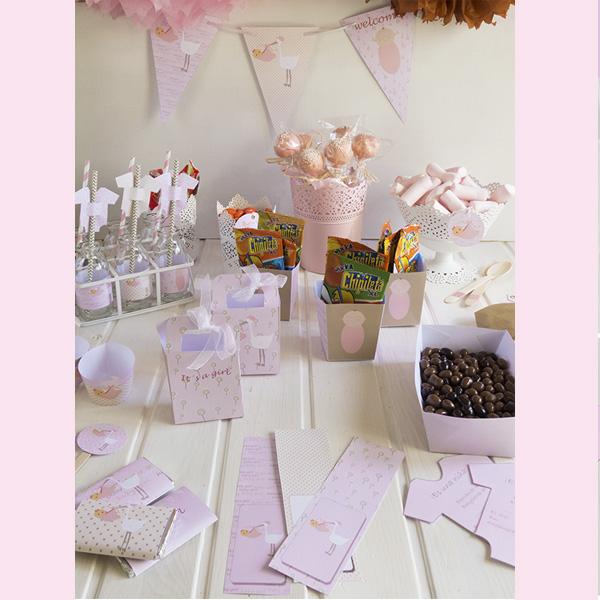 kit de fiesta baby shower niña