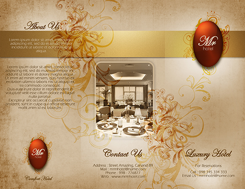 Create a Tri-fold Hotel Brochure  Cover Photoshop Tutorial