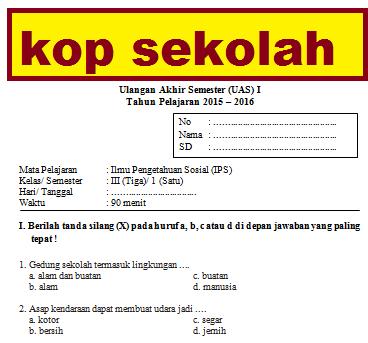 Soal Ips Kelas 3 Semester 1 2 Dan Kunci Jawaban Lingkungan Alam Kurikulum 2013 Info Pendidikan Terbaru