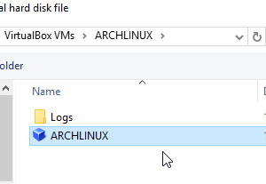 How to boot a hard disk that has archlinux installed using VirtualBox VM in Windows OS