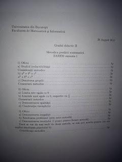 Barem matematica 2015 - grad didactic II Bucuresti
