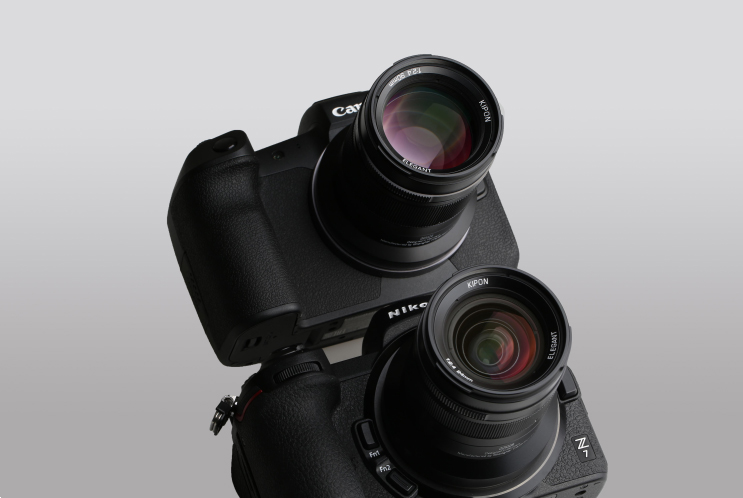 Объективы Kipon Elegant с камерами Nikon Z7 и Canon EOS R