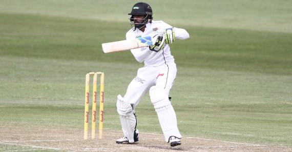 Cody Chetty (Credit: Anesh Debiky) - Cricket - Hollywoodbets Dolphins - Sunfoil Series - Batting - Cut Shot