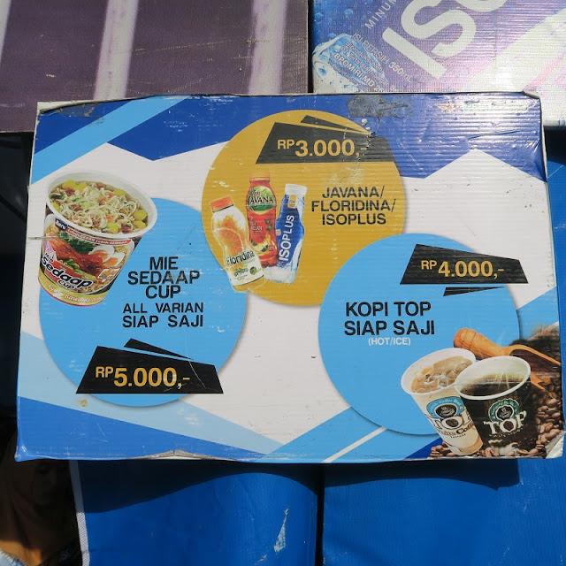 Daftar Harga Makanan & Minuman di Booth Ini