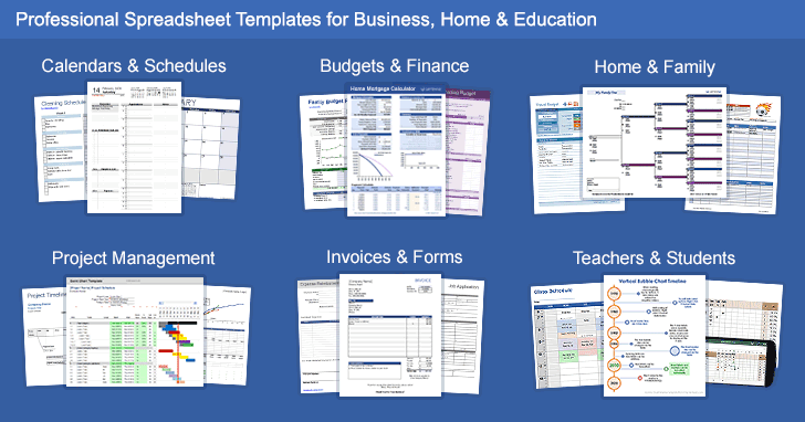 Download Over 300 Free Excel Word Templates