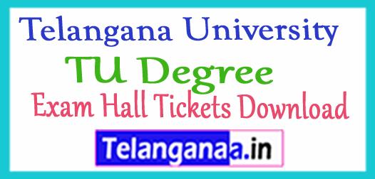 Telangana University TU Degree Exam Hall Tickets Download