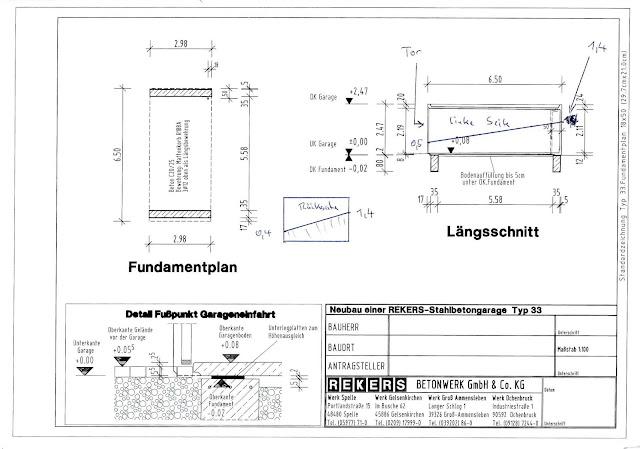 Hausbau mit Okal - Baublog Hessen, RTK: Garage