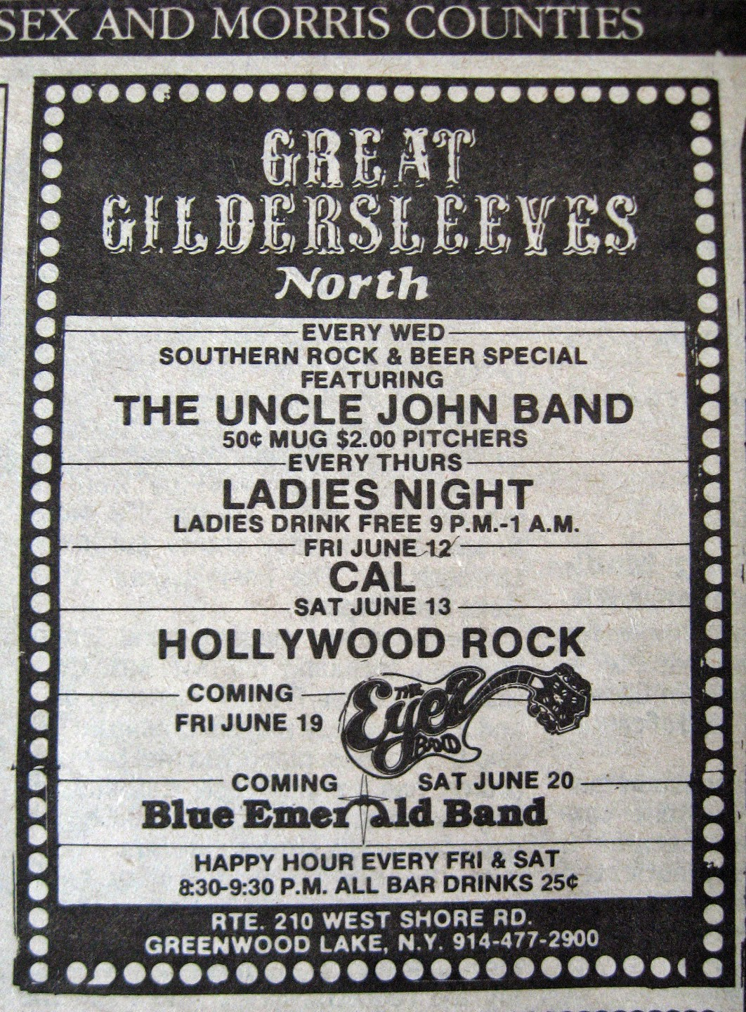 Great Gildersleeves North band line up 1981